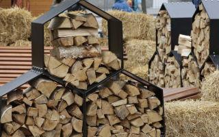 Поленница: как хранить дрова?