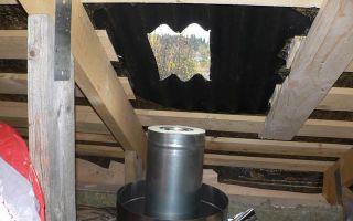Как сделать проход через крышу дымохода: возможности и варианты