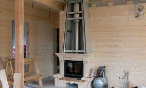 Можно ли отопить дом из бруса газовым камином