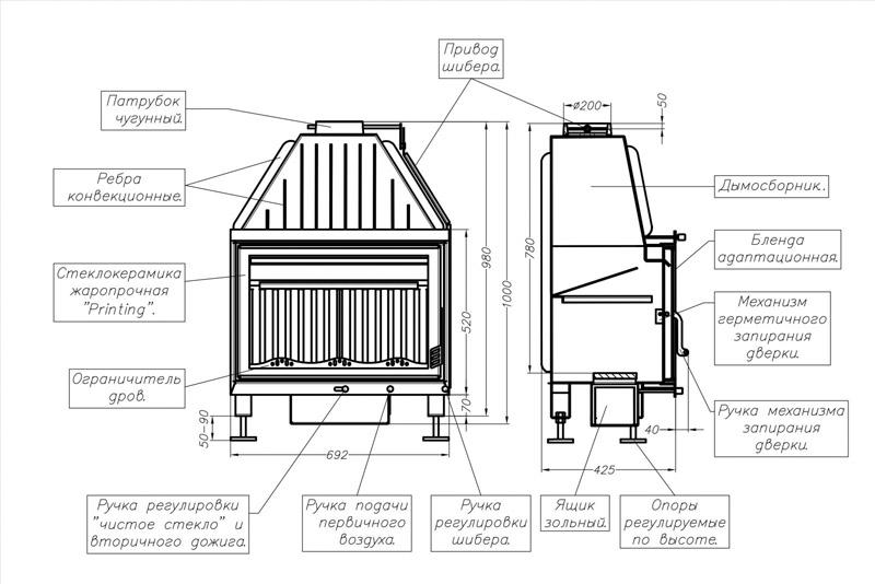 Устройство камина принцип работы дымохода в частном доме чертеж печи с закрытой топкой как сделать своими руками в загородном коттедже