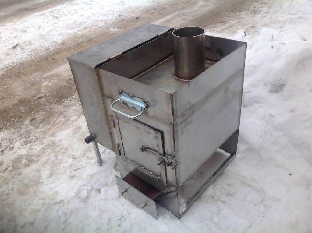 Как сделать металлическую печку для бани